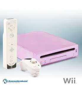 Konsole #pink Evolve Geisha Case-Mod + Remote + Nunchuk + Zubehör