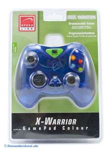 X-Warrior Controller Dual Vibration #clear-blue [Speed Link]