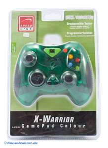 X-Warrior Controller Dual Vibration #clear-green [Speed Link]