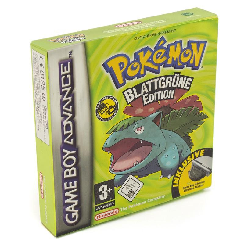 Pokemon Blattgrüne Edition + Adapter