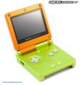 Konsole GBA SP #Lime & Orange Limited Edition + Netzteil