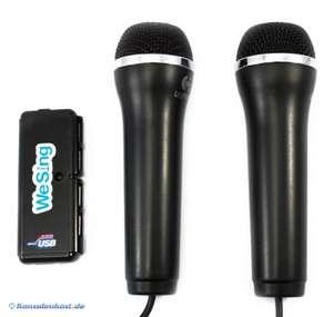 Mikrofon / Microphone We Sing Doppelpack + 4er USB-Hub