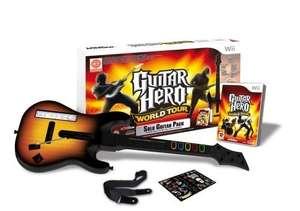 Gitarre / Guitar Hero Controller + Spiel World Tour