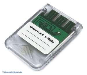 Memory Card / Memorycard / Speicherkarte 1 MB 15 Blocks #transp.