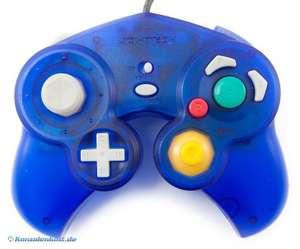 Controller / Pad #blau-transp. mit Vibration [Joytech]