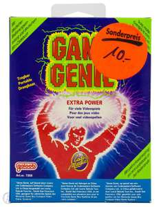 Game Genie / GameGenie Schummelmodul / Cheat Catridge / Mogelmodul