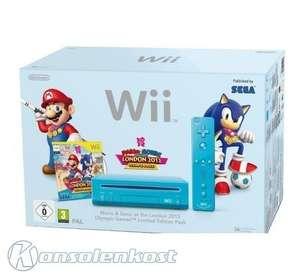 Konsole RVL-101 #blau Mario & Sonic LE Pak + Spiel + Original Remote Plus + Zubehör