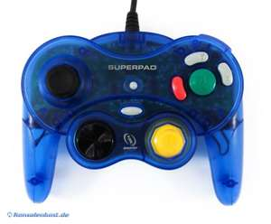 Controller / Pad #clear-blue mit Turbo