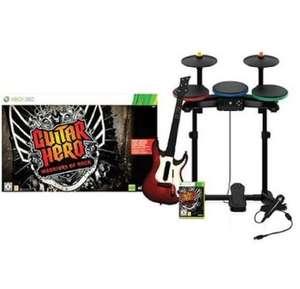 Guitar Hero: Warriors of Rock #Band Pack + Spiel + Schlagzeug + Gitarre & Mikrofon