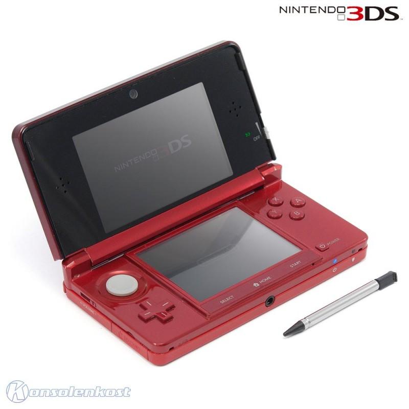 Nintendo 3DS - Konsole #Metallic Red / rot + Netzteil