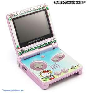 Konsole GBA SP #pink Custom Design Hello Kitty + Netzteil