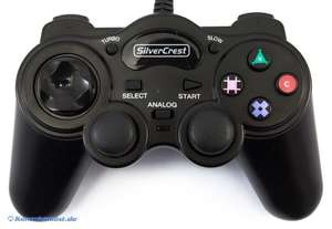 Controller / Pad mit Turbo & Slowmotion #schwarz [Silvercrest]