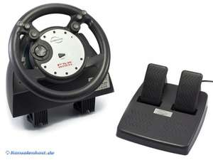 Lenkrad / Racing / Steering Wheel mit Pedale [Gamester]