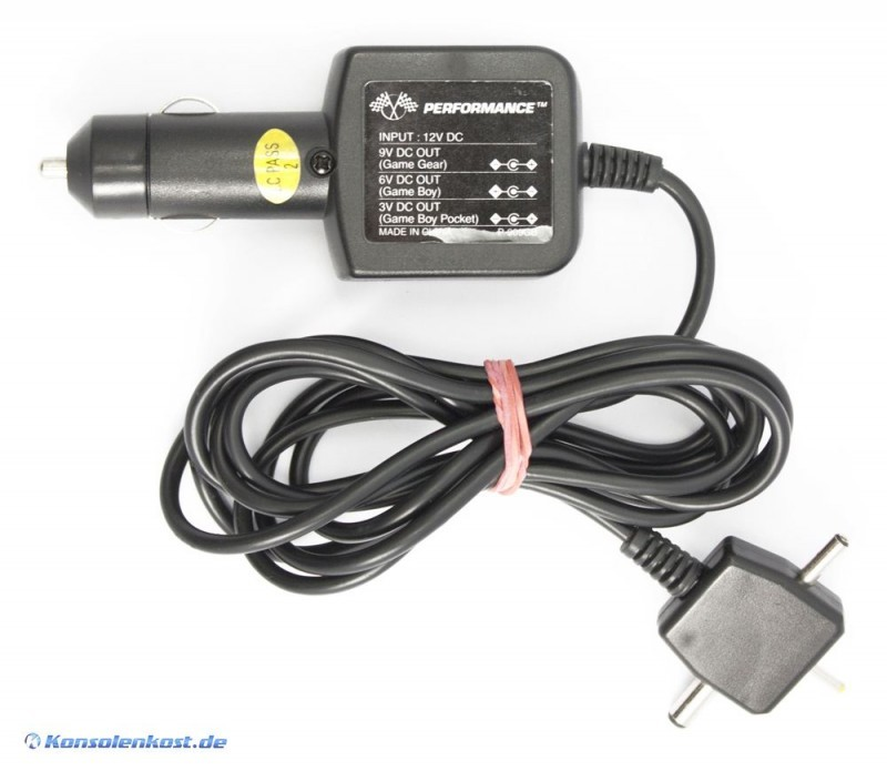 Car Adapter auch für GameBoy Pocket & Sega Game Gear