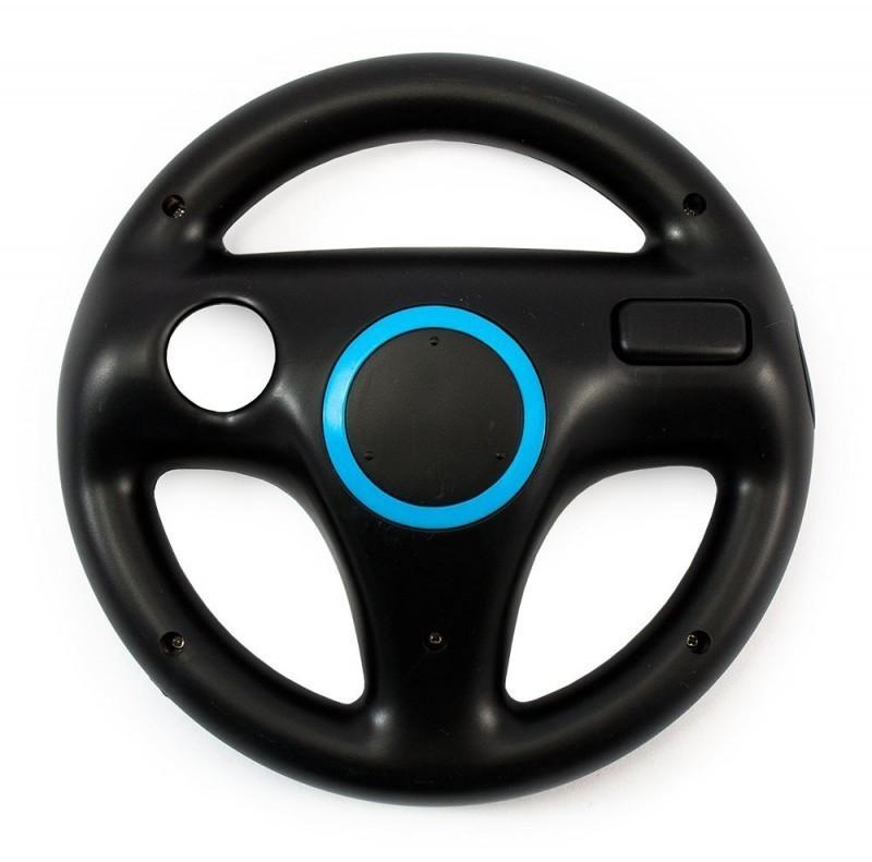 Wii - Controller Aufsatz: Lenkrad / Racing Wheel #schwarz