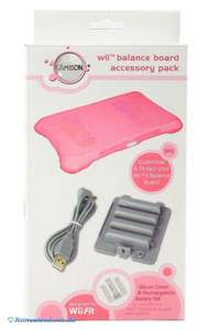 Balance / Fitness Board Accessory Pack inkl. Batterie Auflade Set & Silikon Cover #pink