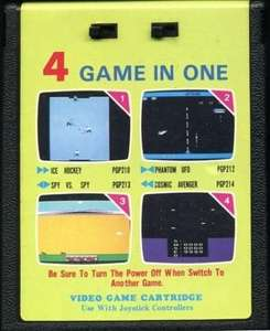4 Game in 1 Ice Hockey / Spy vs. Spy / Phantom UFO / Cosmic Avenger