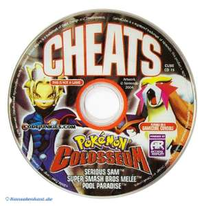 Cheats CD für Pokemon Colosseum, Serious Sam, Smash Brothers Melee & Pool Paradise