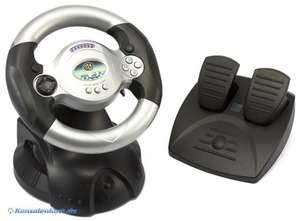 Lenkrad / Racing / Steering Wheel mit Pedale WHL02 [AddVision]