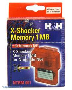 Memory Card / Memorycard / Speicherkarte / Controller Pak 1MB #rot-transp. [H&H]