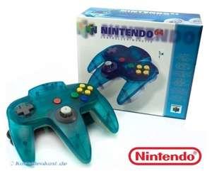 Original Nintendo Controller #Clear-Blue White / blau-weiß transp. NUS-005