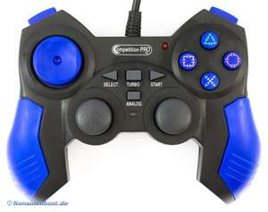 Controller / Pad mit Turbo & Slowmotion #blau-schwarz [Competition Pro]