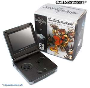 Konsole GBA SP #Kingdom Hearts Edition + Netzteil