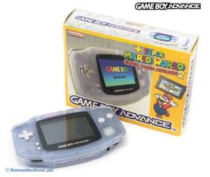 Konsole #Clear Blue Mario Advance 2 Set