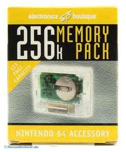 Memory Card / Speicherkarte / Controller Pak 256k #transp. [Electronics Boutique]