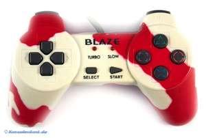 Controller / Pad mit Turbo & Slowmotion #rot-weiß [Blaze]