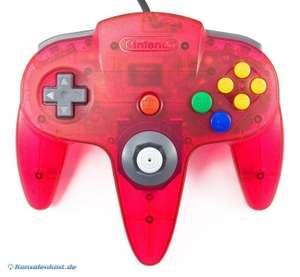 Original Nintendo Controller #rot-transp. / watermelon-red NUS-005