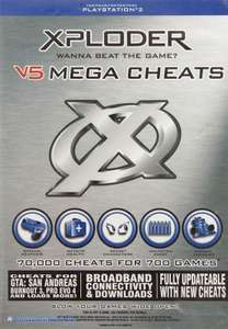 Cheat Catridge / Mogelmodul / Schummelmodul Xploder V5