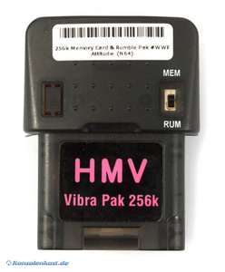Memory Card / Memorycard / Speicherkarte / Controller Pak & Rumble Pak #WWF Attitude