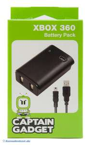 Battery Pack inkl. Ladekabel #schwarz [Captain Gadget]