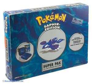 Konsole GBA SP #Pokemon Saphir Limited Super Pak Edition + Spiel + Tasche + Zubehör