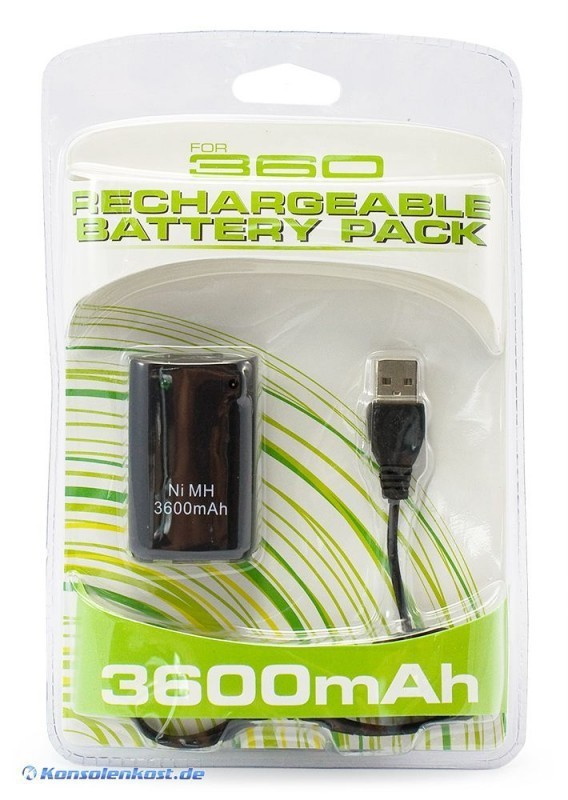 Battery Pack / Power Akku 3600 mAh + Ladekabel #schwarz