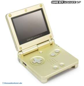 Konsole GBA SP inkl. Netzteil #Starlight Gold Limited Edition