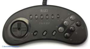 6 Button Controller mit Turbo #schwarz [Naki]