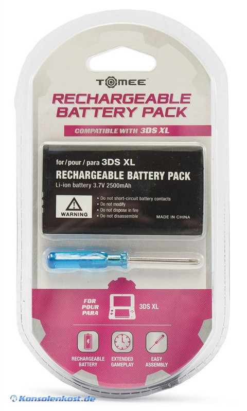 XL Rechargeable Battery Pack + Schraubendreher [Tomee]