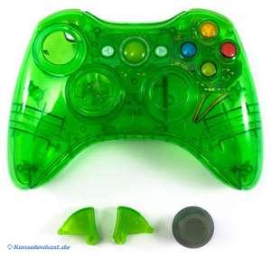 Controller Shell / Case mit LED Mod #grün-transp.