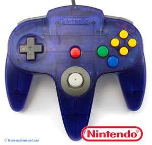 Original Nintendo Controller #blau-transp.-grau