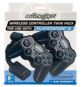 Controller / Pad Wireless Twin Pack #schwarz [Quickshot]