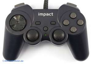 USB Controller / Pad #schwarz [Impact]