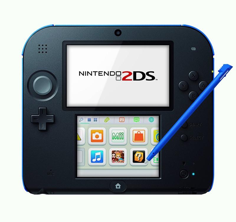 Nintendo 2DS - Konsole #schwarz-blau + Netzteil