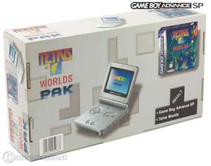 Konsole GBA SP inkl. Netzteil #Tetris Worlds Pak