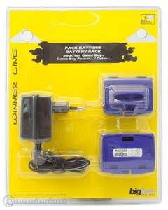 2 Battery Packs / Akkus + Netzteil #lila [BigBen]