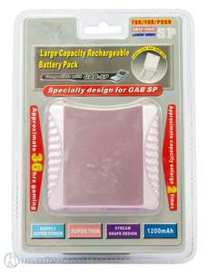 GBA SP Large Capacity Rechargeable Battery Pack / Akku mit doppelter Laufzeit #rosa