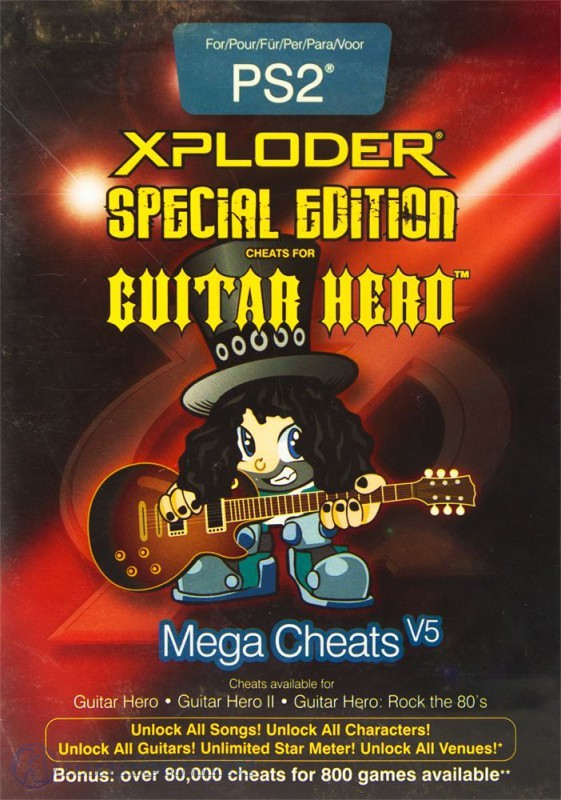 Xploder Mega Cheats V5 - Guitar Hero Special Edition