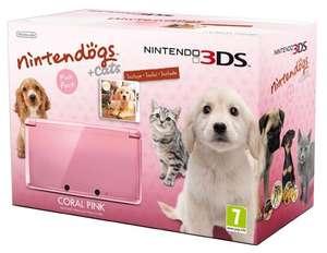 Konsole #Coral Pink Nintendogs Edition + Spiel + Netzteil