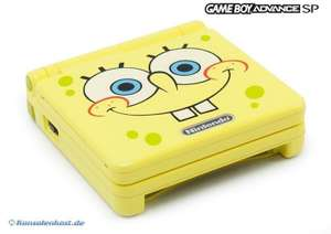 Konsole GBA SP AGS-101 #Spongebob Edition + Netzteil
